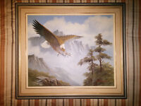 Oil Painting - Eagle and Mountain