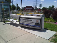 Bus stop garbage/recycling collector BRAMPTON