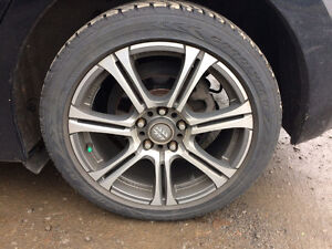 """17"""" Momo mags, with Goodyear tires 205/50R/17"""