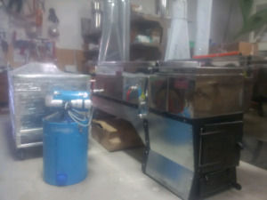 Maple syrup supplies and evaporator