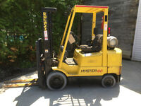 "2001 Hyster 6000lbs Forklift, 189"" lift, Side shift, Propane"