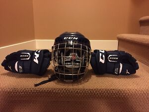 CCM Fit Lite Helmet and 6052 Gloves