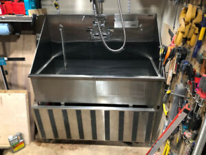 """48"""" Ridalco Professional Stainless Steel Dog Bath- Amazing Deal!"""