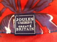 Joules long scarf red blue brand new