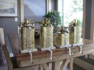 Christmas Mantle Santa Stocking Holder