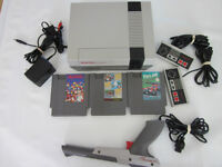Nes nintendo system with 5 excellent games New 72 Pin Installed.
