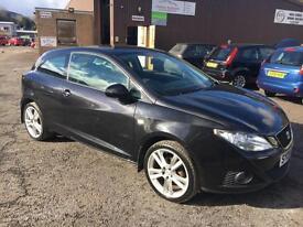 0909 Seat Ibiza 1.6 16v 105 Sport Coupe Black 3 Door 67990mls MOT 12m