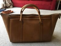 Vintage leather overnight bag