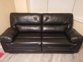 Black Leather Sofa 3 seater (nearly new)