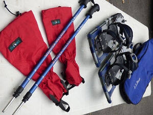 LLBean Snowshoes, Poles, Tatonka Gaiters and Carry Bag Cornwall Ontario image 4