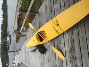 15 ft plywood kayak,paddle,skirt