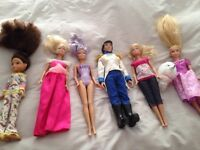 Selection of six dolls for sale