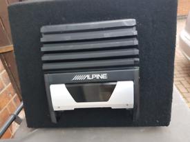 Car subwoofer with Amp Alpine brand
