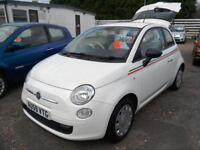 2009 Fiat 500 1.2 Pop Only 68K White Local Car LowIns LowTax £30 Ideal First Car