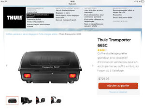 Porte bagage arriere thule