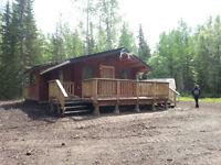 7.95 ACRES WITH LOG CABIN AT CLUCULZ LAKE FOR SALE!!!