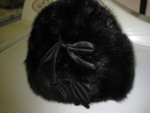 Ladies fur Hats, a Mink Muff and a lamb fur purse