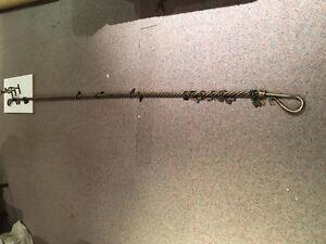 Pole à rideaux décorative (en métal plein)