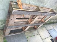 3 wooden pallets, free to collector