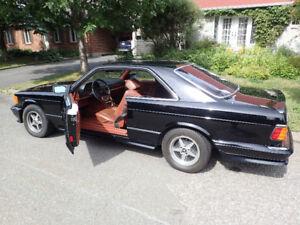 Mercedes-Benz 380 SEC 1982 modèle rare et bas kilométrage
