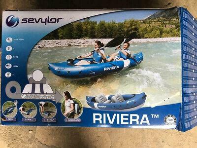 Sevylor Riviera 205514 2 Person Inflatable Kayak - Blue