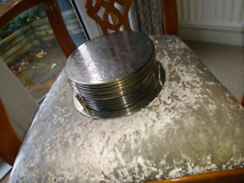 Silver plated place mats