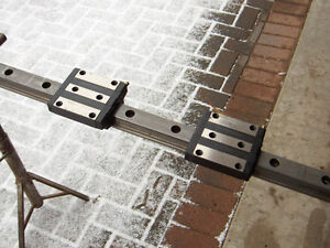 """2 CNC Thomson AccuGlide Linear Bearing Blocks T45 with 65"""" Rail"""