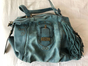 Guess blue second hand cross body bag