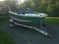 13 foot Speedboat with 50 HP Power-trim Motor and Trailer