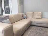 Netuzzi style L-shaped leather sofa