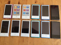 Apple iPod Nano's x 12 (FAULTY SPARES or REPAIRS)