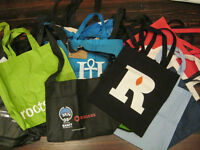 Selling lot of 20 shopping tote bags - various sizes fabrics