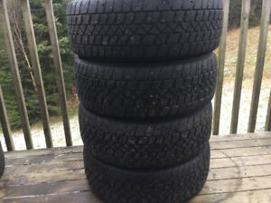 Four 205/60R16 Studded Winter Tires