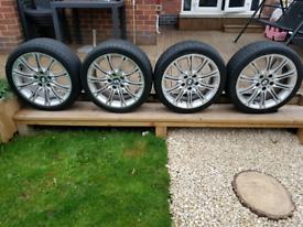 Bmw mv2 staggard 18 alloy wheels