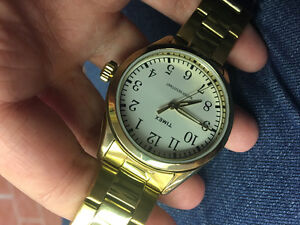 Gold Timex Watch PERFECT Condition!!