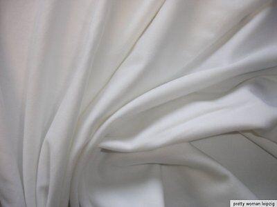 1 Lfm  Jersey 3,55€/m² Trikotstoff als Schlauchstoff weiß FF12