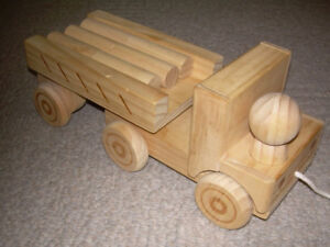 Wooden dump truck (to paint for Xmas gift?).  Near Chinook