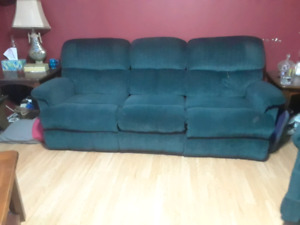 Green lazyboy couch
