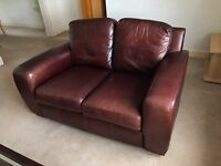 Full Real Leather Sofas - 2 & 3 seater. Excellent condition.