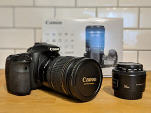 Canon 60D, EFS 17-55 f/2.8 IS USM and EF 50mm f/1.8 II Bundle
