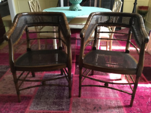 Vintage faux bamboo chairs