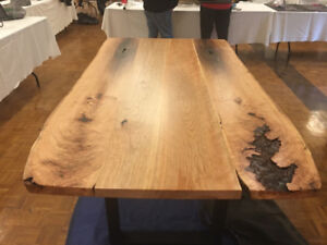 Live edge table made out of Black Cherry