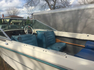 16' fibreglass boat with HP150 Mercury motor