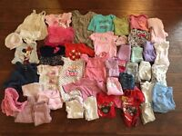 Baby Girl Clothing 3-6 and a few 0-3 months.