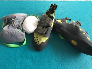 La Sportiva Climbing Shoes + chalk bag