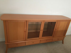 Ikea Credenza With Hutch : Drawer credenza buy or sell hutches display cabinets in