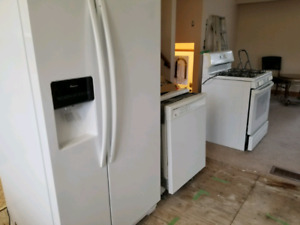 Fridge Gas Stove and Dishwasher