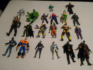 Large lot of action figures ( marvel , DC , neca , etc)