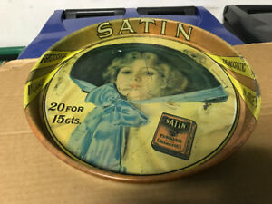 VINTAGE SATIN TURKISH BLEND CIGARETTES METAL TRAY