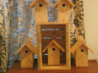 PINE BIRD HOUSES FOR WRENS CHICKADEES AND FINCH